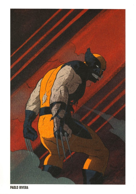 Wolverine Steel Gallery Portfolio, plate 6. Artwork by Paolo Rivera.