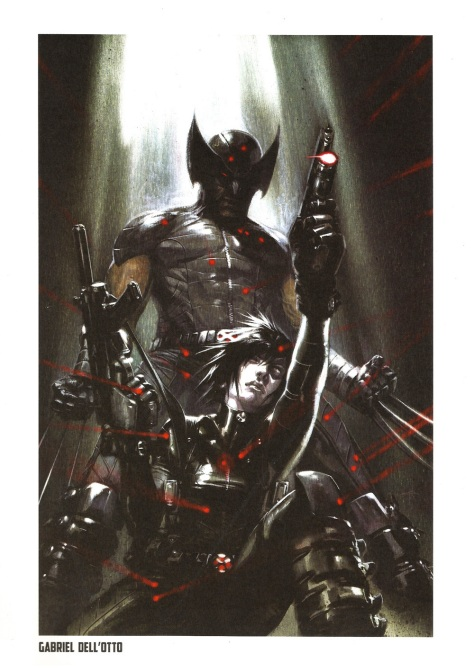 Wolverine Steel Gallery Portfolio, plate 7. Artwork by Gabriel Dell'Otto.