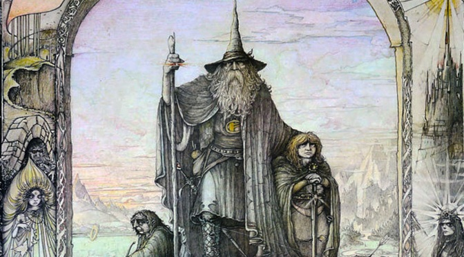 Lord of the Rings poster by Jimmy Cauty (1976)