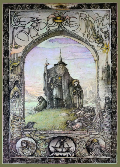 Lord of the Rings Poster by Jimmy Cauty