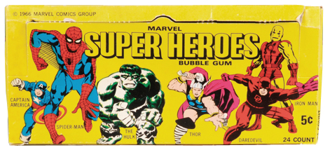 Marvel super heroes Bubble Gum trading cards