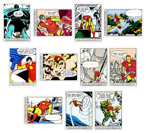 Marvel Super Heroes Bubble Gum trading cards #12-22