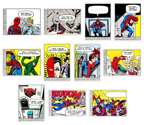 Marvel Super Heroes Bubble Gum trading cards #34-44