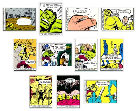 Marvel Super Heroes Bubble Gum trading cards #45-55