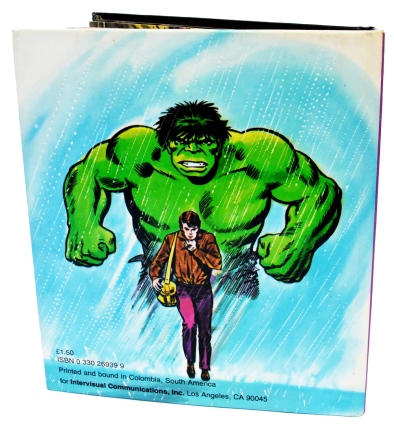 "The incredible Hulk ""Trapped!"" , back cover"