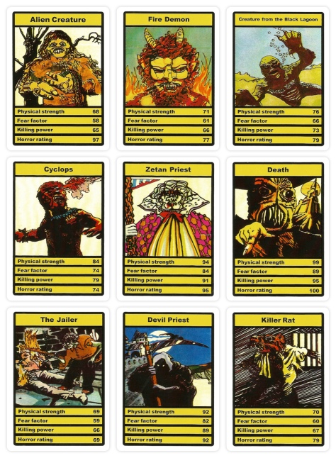 Top Trumps Horror cards, Devil Priest set