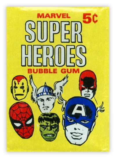 Marvel Comics/Donruss Trading Cards, outer wrapper