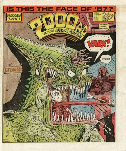 2000AD Comic prog #503. Artwork by Kevin O'Neill.