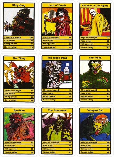 Dracula Top Trumps Horror cards 1978
