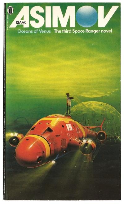 Oceans of Venus by Isaac Asimov. Artwork by Peter Elson.