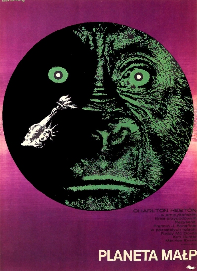 Planeta Malp (Planet of The Apes) poster by Eryk Lipinski (1969)