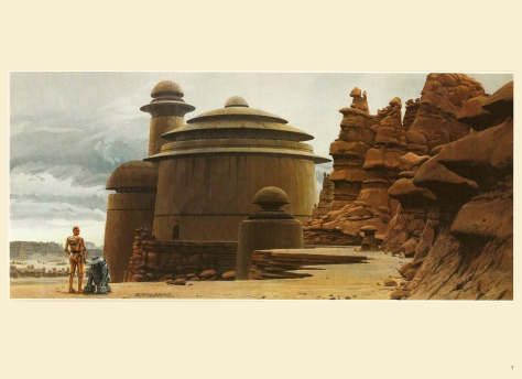 Return of the Jedi Portfolio by Ralph McQuarrie, Plate 1