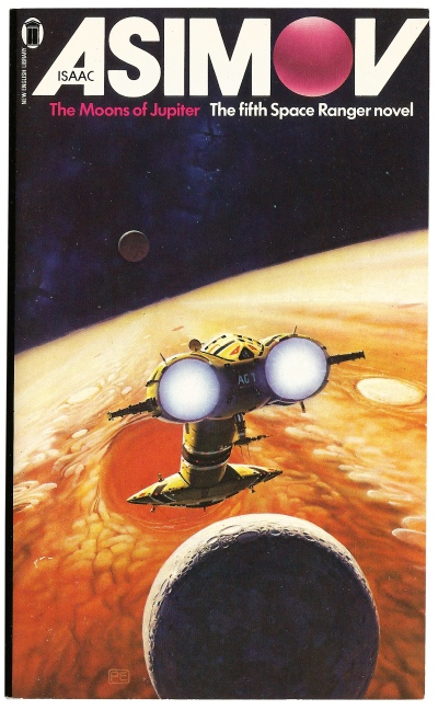The Moons of Jupiter by Isaac Asimov. Artwork by Peter Elson.
