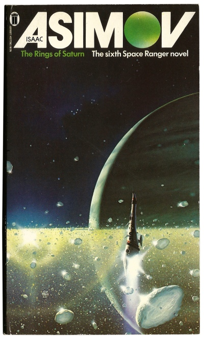The Rings of Saturn by Isaac Asimov. Artwork by Peter Elson.