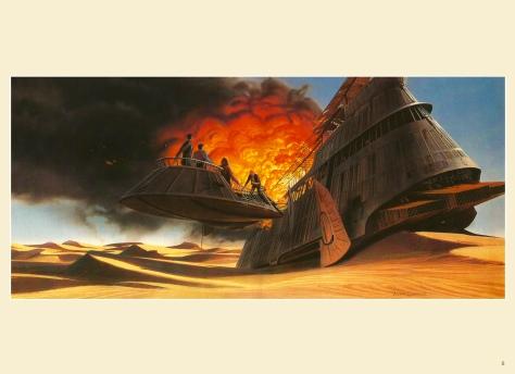 Return of the Jedi Portfolio by Ralph McQuarrie, Plate 8