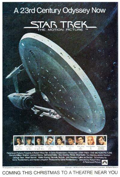Star Trek The Motion Picture teaser poster (1978), artwork by John Berkey