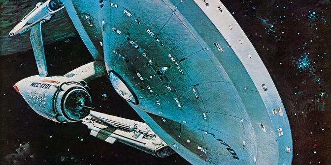 Star Trek The Motion Picture teaser poster (1978), artwork by John Berkey