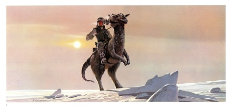 The Empire Strikes Back Portfolio, Plate 1. Artwork by Ralph McQuarrie