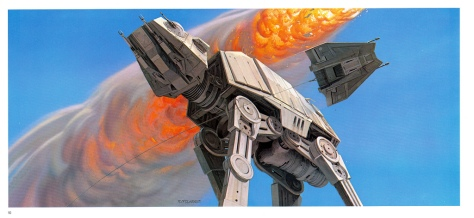 The Empire Strikes Back Portfolio, Plate 10. Artwork by Ralph McQuarrie