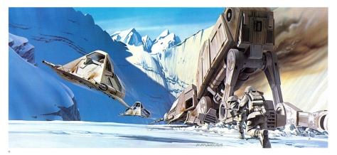 The Empire Strikes Back Portfolio, Plate 11. Artwork by Ralph McQuarrie
