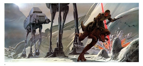 The Empire Strikes Back Portfolio, Plate 12. Artwork by Ralph McQuarrie