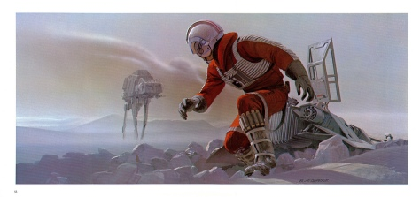 The Empire Strikes Back Portfolio, Plate 13. Artwork by Ralph McQuarrie