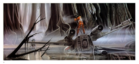 The Empire Strikes Back Portfolio, Plate 15. Artwork by Ralph McQuarrie