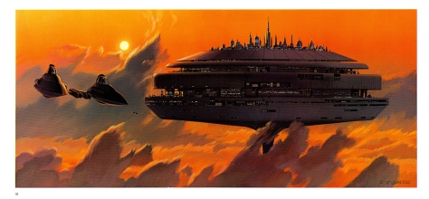The Empire Strikes Back Portfolio, Plate 18. Artwork by Ralph McQuarrie