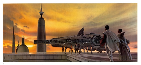 The Empire Strikes Back Portfolio, Plate 19. Artwork by Ralph McQuarrie