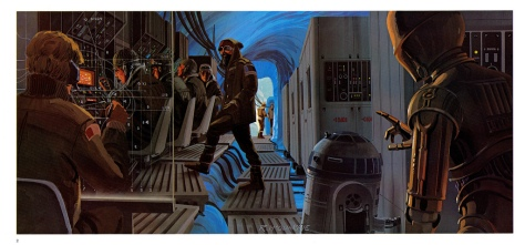 The Empire Strikes Back Portfolio, Plate 2. Artwork by Ralph McQuarrie