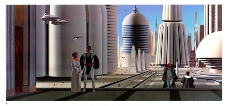 The Empire Strikes Back Portfolio, Plate 20. Artwork by Ralph McQuarrie