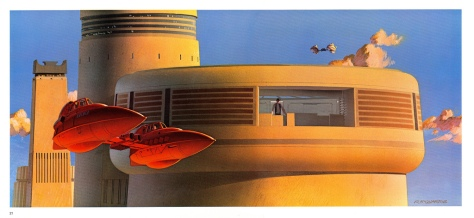 The Empire Strikes Back Portfolio, Plate 21. Artwork by Ralph McQuarrie