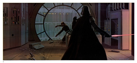 The Empire Strikes Back Portfolio, Plate 22. Artwork by Ralph McQuarrie