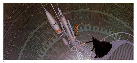 The Empire Strikes Back Portfolio, Plate 24. Artwork by Ralph McQuarrie