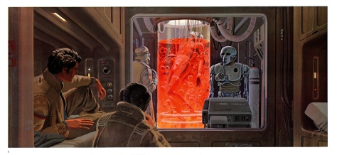 The Empire Strikes Back Portfolio, Plate 5. Artwork by Ralph McQuarrie