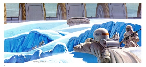 The Empire Strikes Back Portfolio, Plate 6. Artwork by Ralph McQuarrie