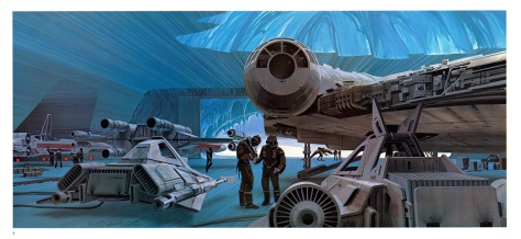 The Empire Strikes Back Portfolio, Plate 7. Artwork by Ralph McQuarrie