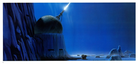 The Empire Strikes Back Portfolio, Plate 8. Artwork by Ralph McQuarrie