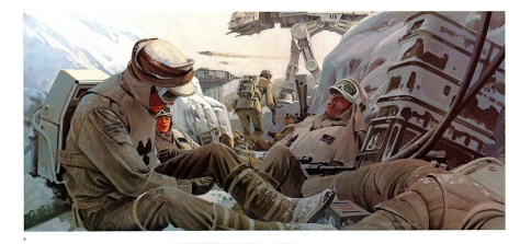 The Empire Strikes Back Portfolio, Plate 9. Artwork by Ralph McQuarrie