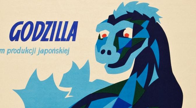 Godzill movie poster, 1957. Artwork by Alicja Laurman-Waszewska