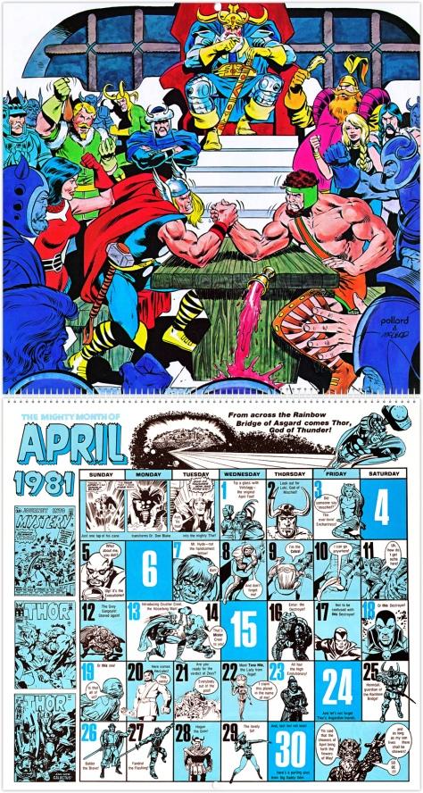 Marvel 20th Anniversary Calendar 1981, April
