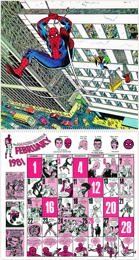 Marvel 20th Anniversary Calendar 1981, February