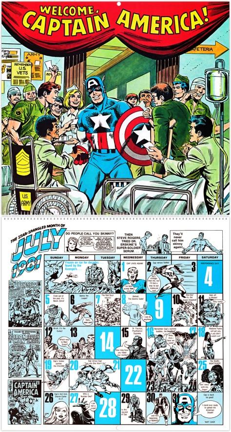 Marvel 20th Anniversary Calendar 1981, July