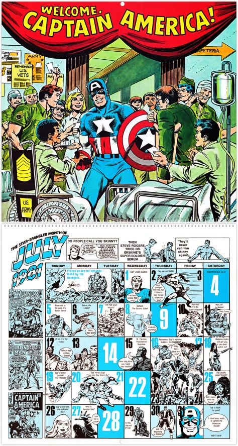 Marvel 20th Anniversary Calendar 1981, July
