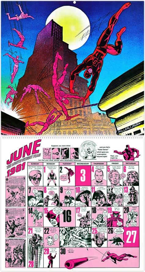 Marvel 20th Anniversary Calendar 1981, June