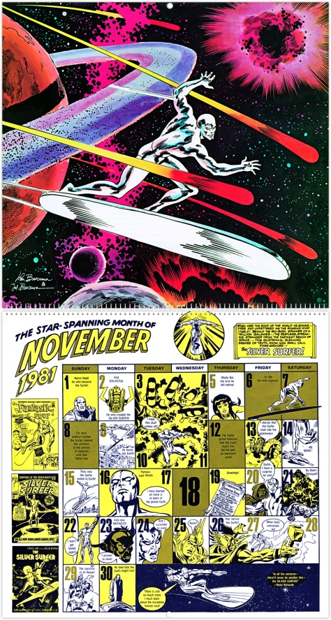 Marvel 20th Anniversary Calendar 1981, November