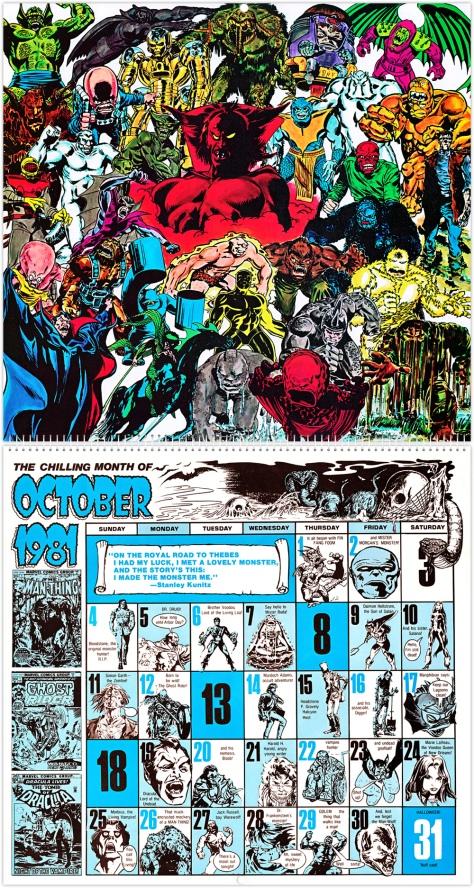 Marvel 20th Anniversary Calendar 1981, October