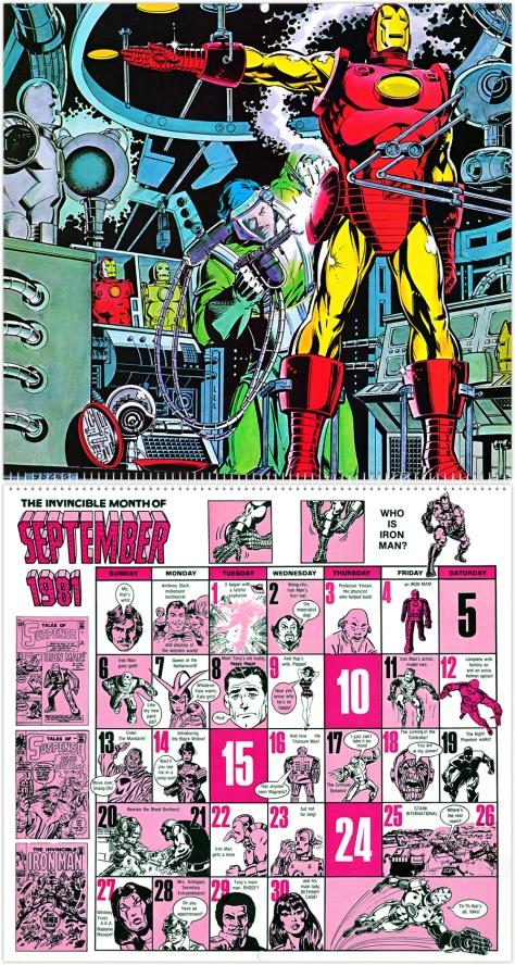 Marvel 20th Anniversary Calendar 1981, September