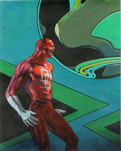 Daredevil, 1990. Artwork by Moebius.