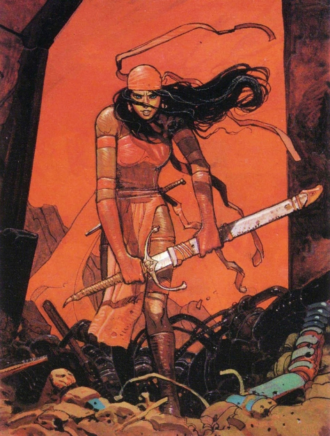 Elektra, 1990. Artwork by Moebius.